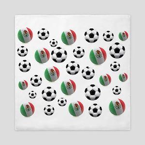 Mexican soccer balls Queen Duvet