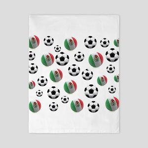 Mexican soccer balls Twin Duvet Cover