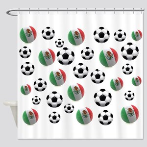 Mexican soccer balls Shower Curtain