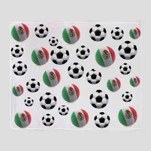 Mexican soccer balls Throw Blanket