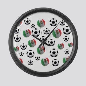 Mexican soccer balls Large Wall Clock