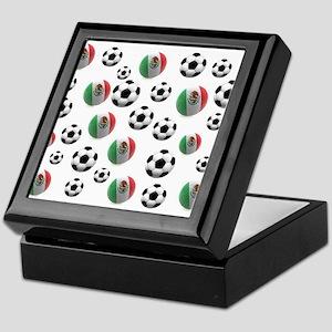 Mexican soccer balls Keepsake Box