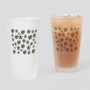 Mexican soccer balls Drinking Glass