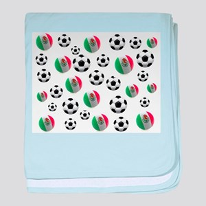 Mexican soccer balls baby blanket