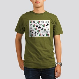 Mexican soccer balls Organic Men's T-Shirt (dark)