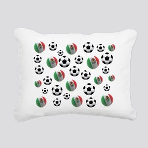 Mexican soccer balls Rectangular Canvas Pillow