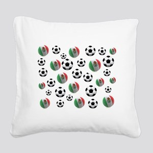 Mexican soccer balls Square Canvas Pillow