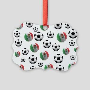 Mexican soccer balls Picture Ornament
