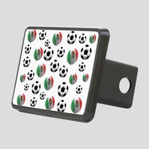 Mexican soccer balls Rectangular Hitch Cover