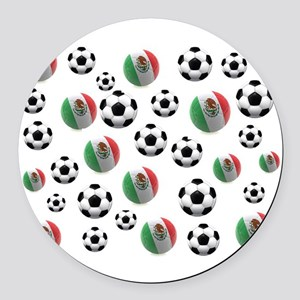 Mexican soccer balls Round Car Magnet