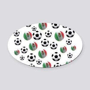 Mexican soccer balls Oval Car Magnet