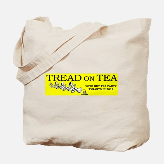 Tread on the Tea Party Tote Bag