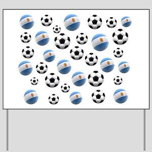 Argentina world cup soccer balls Yard Sign