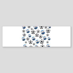 Argentina world cup soccer balls Sticker (Bumper)