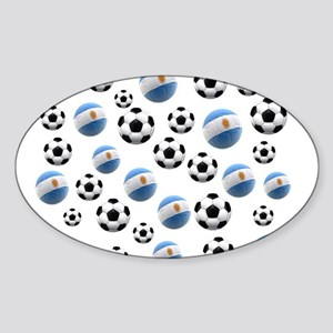 Argentina world cup soccer balls Sticker (Oval)