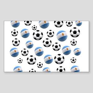 Argentina world cup soccer balls Sticker (Rectangl