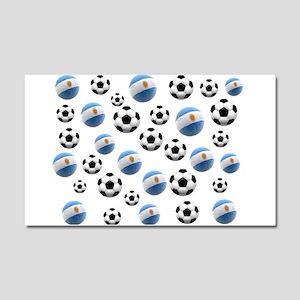 Argentina world cup soccer balls Car Magnet 20 x 1