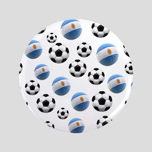 "Argentina world cup soccer balls 3.5"" Button"
