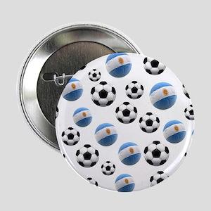 "Argentina world cup soccer balls 2.25"" Button"