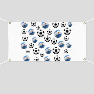 Argentina world cup soccer balls Banner