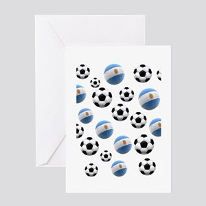 Argentina world cup soccer balls Greeting Card