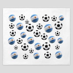Argentina world cup soccer balls King Duvet