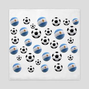 Argentina world cup soccer balls Queen Duvet