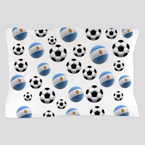 Argentina world cup soccer balls Pillow Case