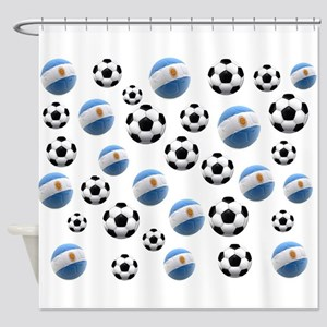 Argentina world cup soccer balls Shower Curtain