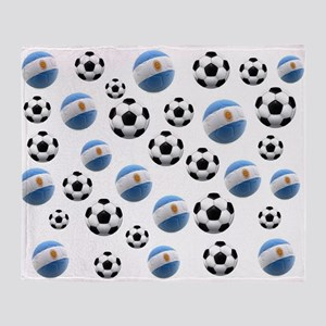 Argentina world cup soccer balls Throw Blanket