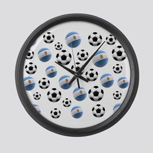Argentina world cup soccer balls Large Wall Clock