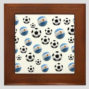 Argentina world cup soccer balls Framed Tile