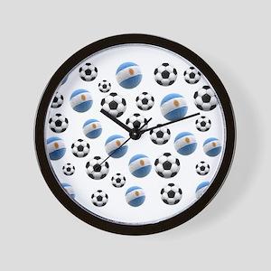 Argentina world cup soccer balls Wall Clock
