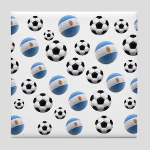 Argentina world cup soccer balls Tile Coaster
