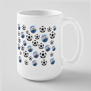 Argentina world cup soccer balls Large Mug