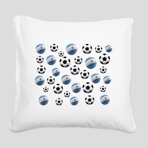 Argentina world cup soccer balls Square Canvas Pil