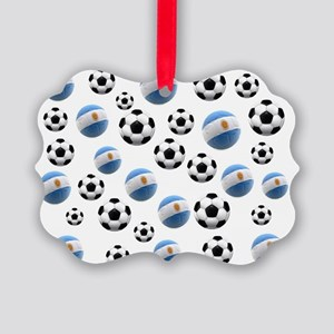 Argentina world cup soccer balls Picture Ornament
