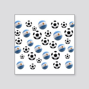 Argentina world cup soccer balls Square Sticker 3""