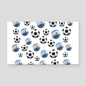 Argentina world cup soccer balls Rectangle Car Mag