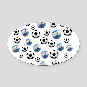 Argentina world cup soccer balls Oval Car Magnet
