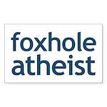 Foxhole Atheist Sticker (Rectangle)