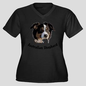 aussie australian shepherd dog Women's Plus Size V
