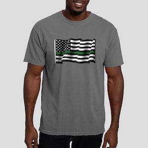 Thin Green Line Flag Mens Comfort Colors Shirt