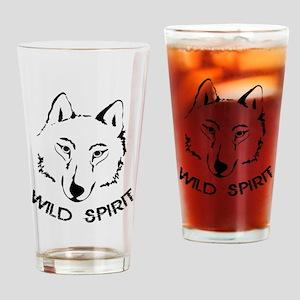 wolf wild spirit pack Drinking Glass