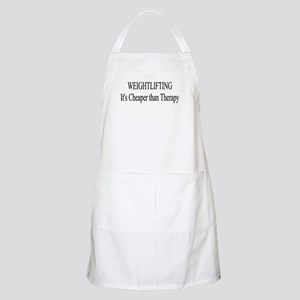 Weightlifting Cheaper Than Therapy Apron