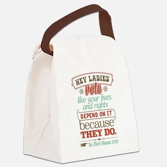 Ladies Vote Canvas Lunch Bag