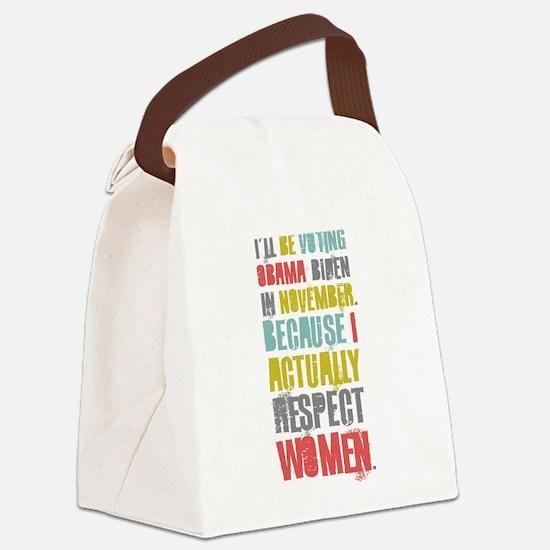 Respect Women Canvas Lunch Bag