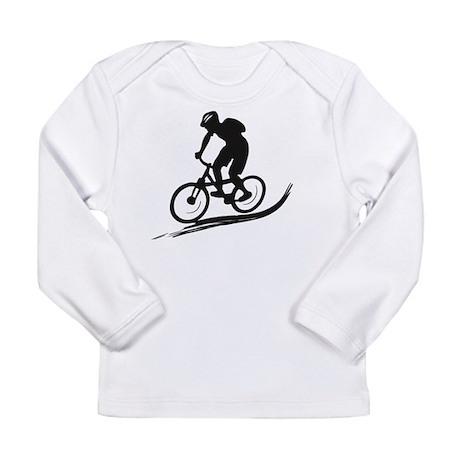 biker mtb mountain bike cycle downhill Long Sleeve