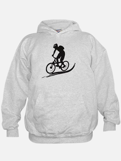 biker mtb mountain bike cycle downhill Hoodie