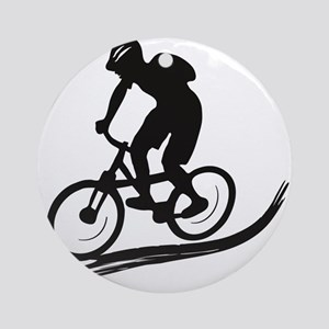 biker mtb mountain bike cycle downhill Ornament (R
